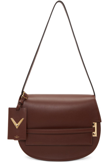 Valentino - Brown Large My Rockstud Satchel