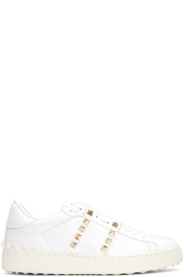 Valentino - White Rockstud Untitled Sneakers