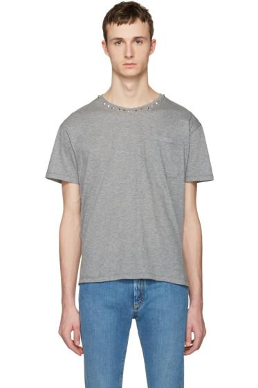 Valentino - Grey Studs T-Shirt