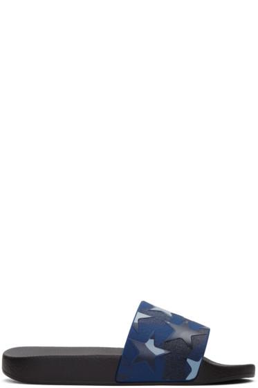 Valentino - Blue Camo Star Sandals