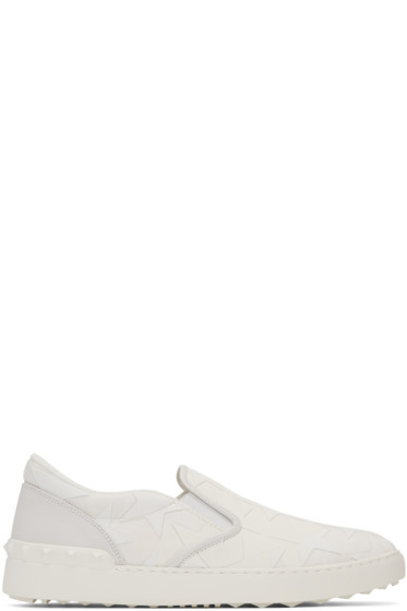 Valentino - White Camustars Slip-On Sneakers