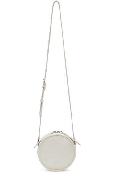 Kara - Off-White Leather Circle Bag