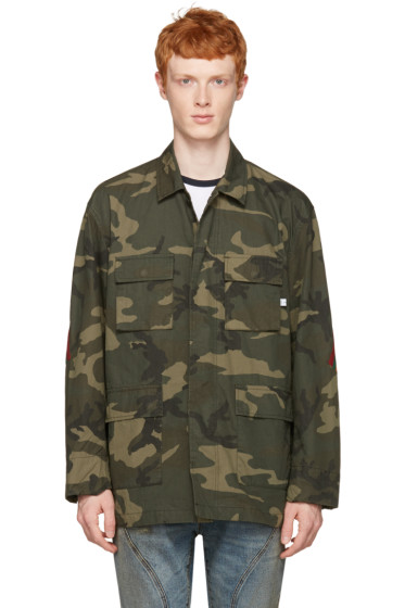 Facetasm - Green Camo Stripe Jacket