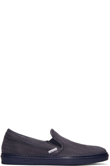 Jimmy Choo - Navy Grove Slip-On Sneakers
