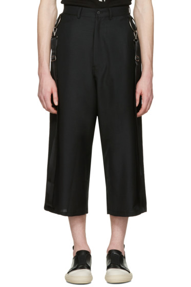 D.Gnak by Kang.D - Black Side Straps Trousers