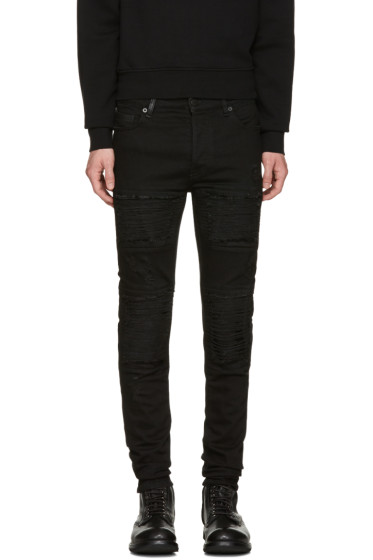 Marcelo Burlon County of Milan - Black Gil Biker Jeans