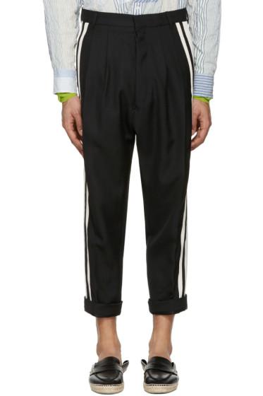 Haider Ackermann - Black Wool Stripe Trousers