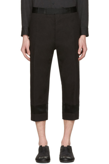 Haider Ackermann - Black Tuxedo Trousers