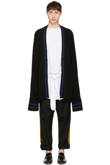 Haider Ackermann - Black Long Wool Cardigan