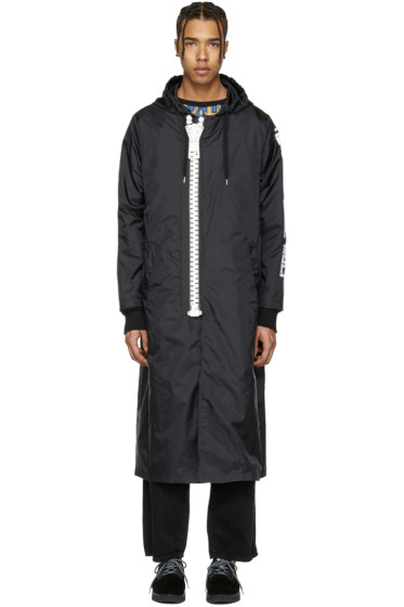 Miharayasuhiro - Black Massive Zip Hooded Coat