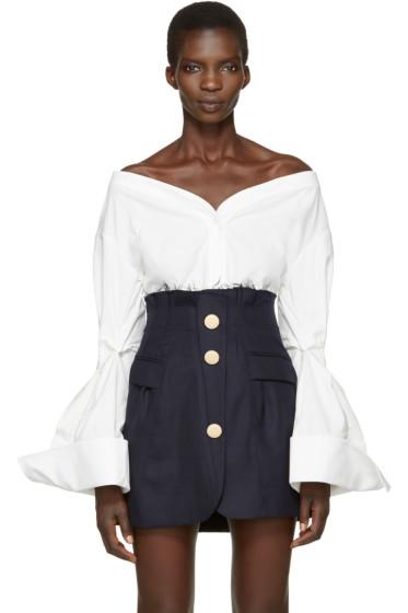 Jacquemus - White 'La Chemise Épaules Nues' Shirt