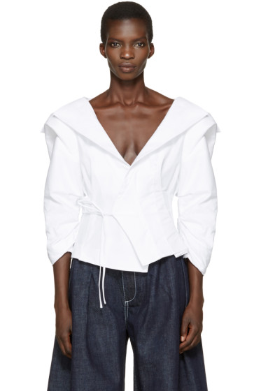 Jacquemus - White 'Le Top Marin' Blouse