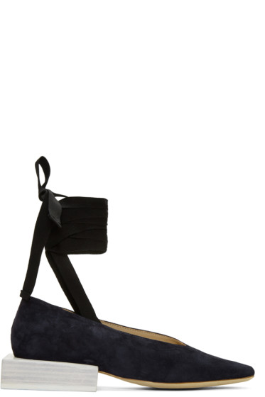 Jacquemus - Navy 'Les Chaussures Lacées' Loafers