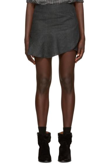 Isabel Marant Etoile - Grey Jevil Ruffle Miniskirt