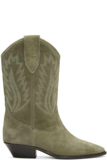 Isabel Marant - Taupe Suede Dallin Cowboy Boots