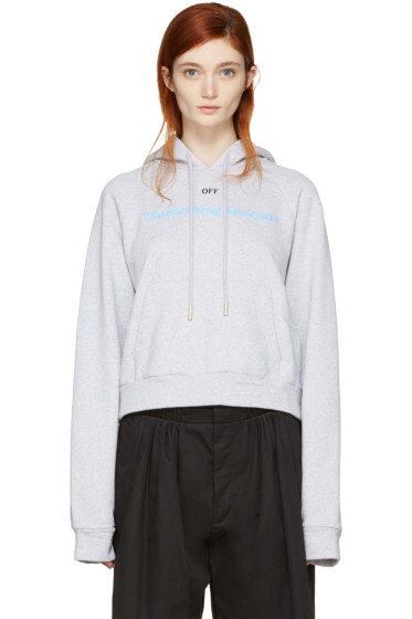 Off-White - Grey 'Something Special' Hoodie