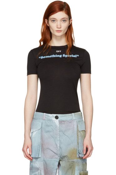 Off-White - Black 'Something Special' T-Shirt