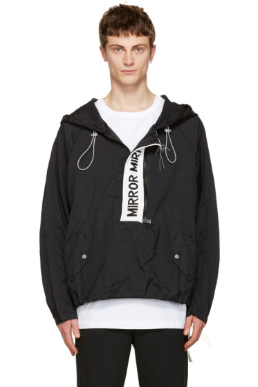 Off-White - Black 'Mirror Mirror' Anorak Jacket