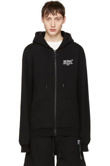 Off-White - Black Off Zip Hoodie