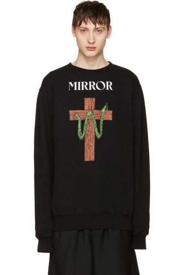 Off-White - Black Snake Mirror Pullover