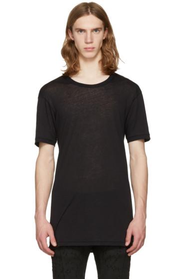 11 by Boris Bidjan Saberi - Black Regular Fit T-Shirt