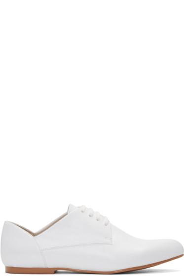 Jil Sander Navy - White Leather Galaxy Derbys
