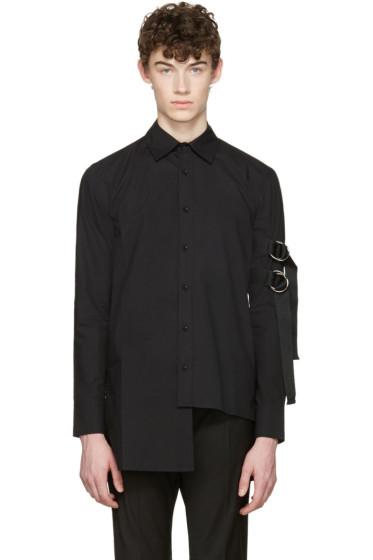 D by D - Black Asymmetric Straps Shirt