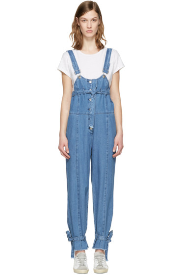 SJYP - Blue Denim Strap Overalls