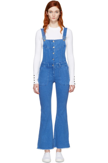 SJYP - Blue Denim Boot Cut Overalls