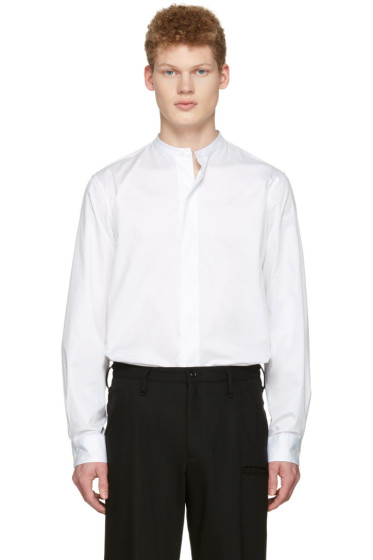 Lemaire - White Officer Collar Shirt