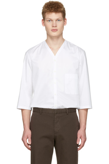 Lemaire - White V-Neck Shirt