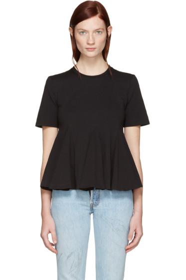 Edit - Black Godet T-Shirt