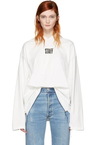 Vetements - White Hanes Edition 'Staff ' Hoodie