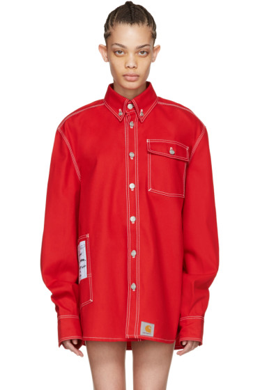 Vetements - Red Carhartt Edition Workwear Shirt