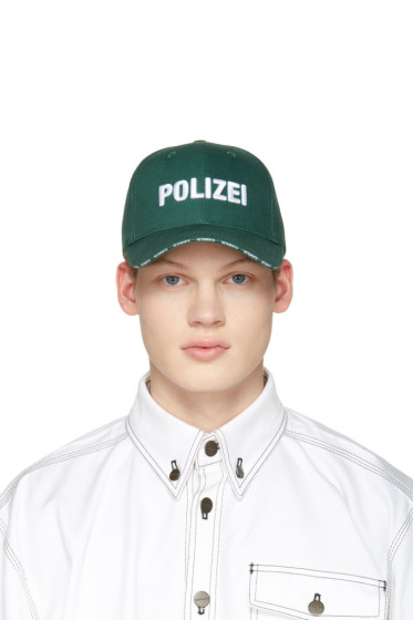 Vetements - Green 'Polizei' Cap