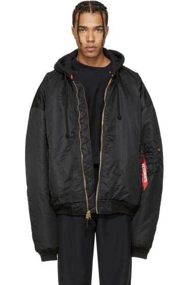 Vetements - Reversible Black Alpha Industries Edition Bomber Jacket