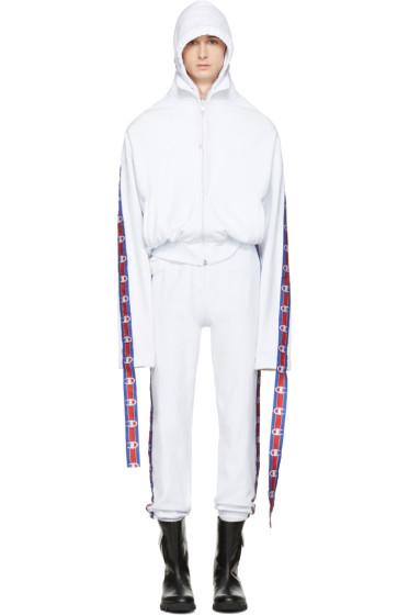 Vetements - White Champion  Edition Hoodie