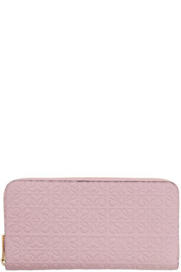 Loewe - Pink Zip Around Anagram Wallet