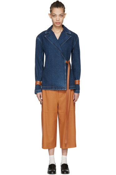Loewe - Indigo Denim Wrap Jacket