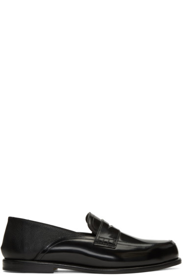 Loewe - Black Patent Slip-On Loafers