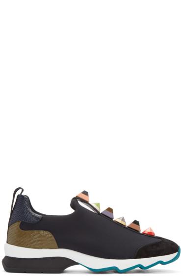 Fendi - Black Studded Sneakers