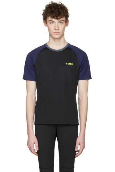 Fendi - Black Activewear Logo T-Shirt