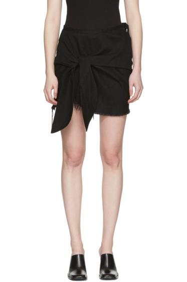 Marques Almeida - Black Denim Knotted Miniskirt