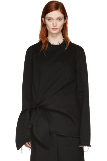 Marques Almeida - Black Denim Knot Blouse