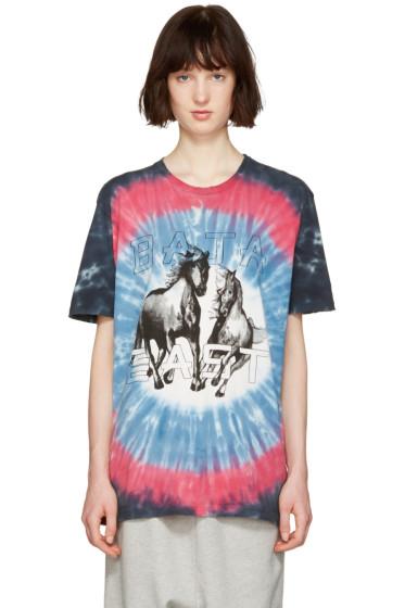 Baja East - Multicolor Tie-Dye Logo T-Shirt