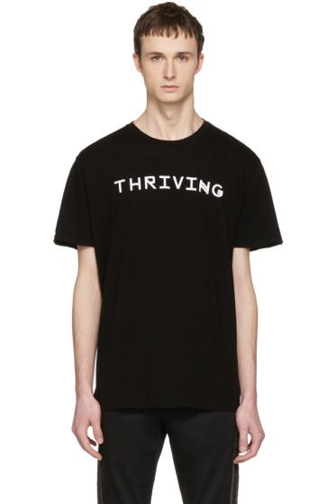 Baja East - Black 'Thriving' T-Shirt