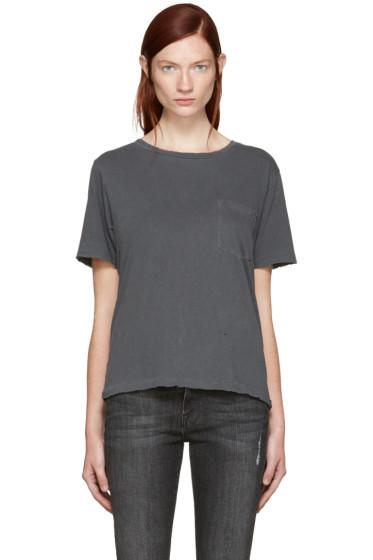Amo - Grey Tomboy Pocket T-Shirt