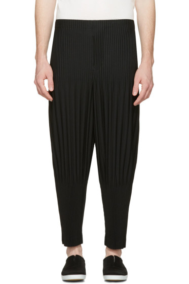 Homme Plissé Issey Miyake - Black Two-Type Pleated Trousers