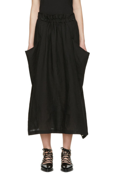 Y's - Black Deep Pockets Skirt