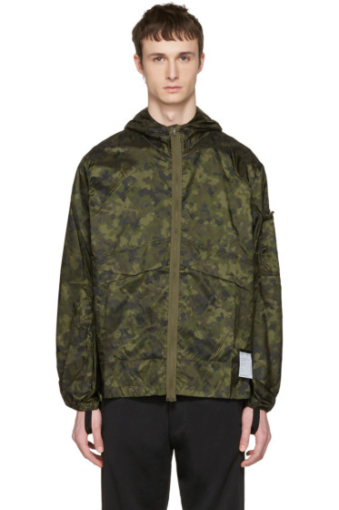 Satisfy - Green Camo Packable Windbreaker